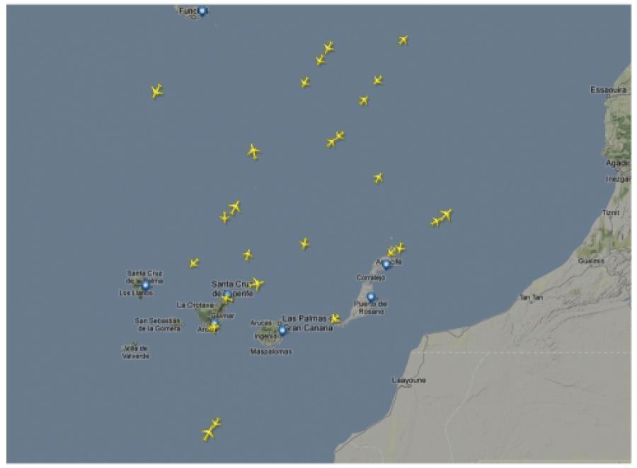 Flight Radar Canary Islands Live Aircraft Movements