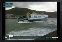 Fred Olsen Ferry Docking During Storm on Tenerife